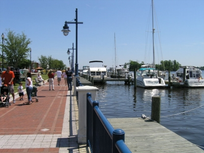 waterfront in Washington's historic downtown